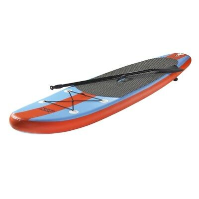 North Gear Inflatable SUP Stand up Paddle Board - 8FT Ocean Blue/Orange