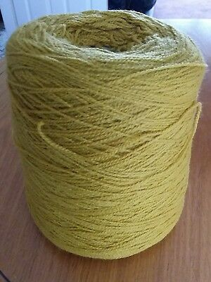 Large Cone Of 500Grms Of 4 Ply Acrylic Yarn From Bramwell Mustard Colour
