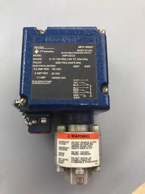 Neo-Dyn Model 100P12CC3 Adjustable Pressure Switch, 15 to 150 PSIG