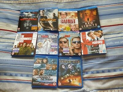 10 Job Lot Various Assorted Blu-Ray Films Titles UK Releases