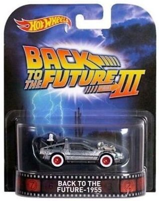 Hotwheels Back To The Future 1955 Delorean Real Rider  Rubber Wheels