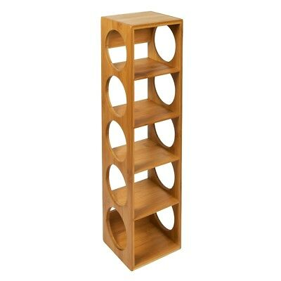 Woodluv Bamboo Stackable Wine Rack Stand Holder