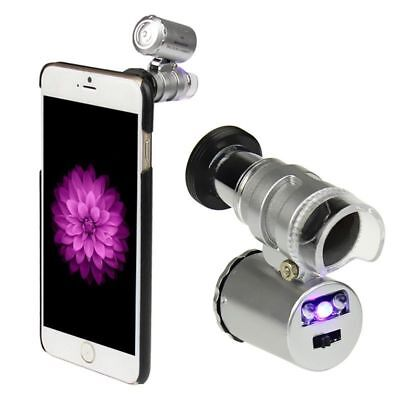 Universal 60X Zoom Mobile Phone Magnifier Jewelry Microscope Micro Lens Camera