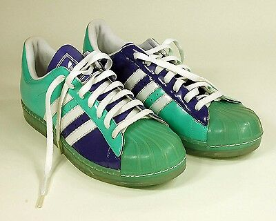 ADIDAS ORIGINALS SUPERSTAR MEN SHOES SIZE 11 RETRO VINTAGE Aqua Purple White