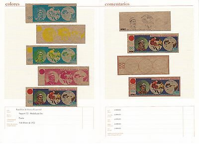 1972 equatorial Guinea, Color Froof, Olimpic games in Sapporo,  certificate