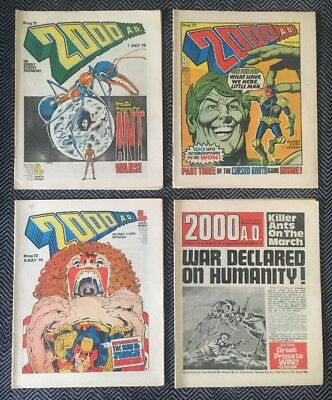 The 4 Rare Banned 2000 Ad Issues 71, 72, 77 And 78 Original Progs