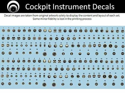 airscale Early Jet Cockpit Instrument Dial decals - 1/48 scale AS48 AJET