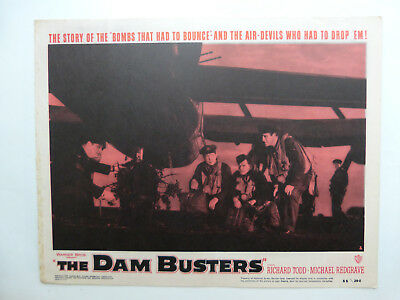 Dam Busters set of original US deluxe lobby cards 11 x 14  Todd, Redgrave 1955