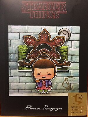 Lootcrate Stranger Things NYCC 2017 Eleven vs Demogorgon 2255/ 2500 ***SIGNED***