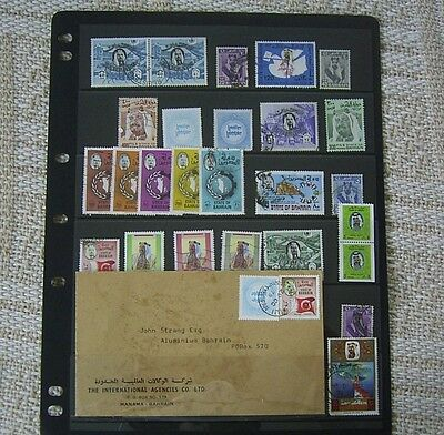 Bahrain Cover And Used Stamp Selection