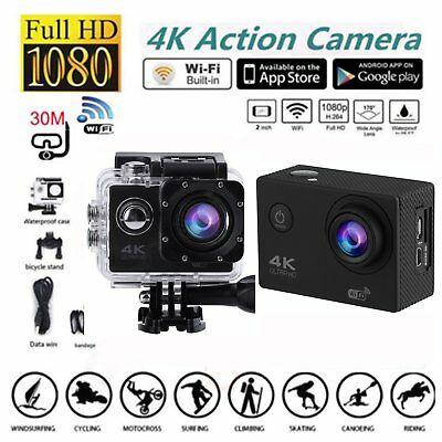 SJ60 Waterproof 4K Wifi HD 1080P Ultra Sports Action Camera DVR Cam Camcorder #L