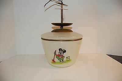 Rare Vintage Disney Ceiling Light & Fixture with Mickey and Minnie