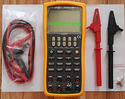 V/mA ohm RTD Hz Pulse Switch Thermocouple Multifunction Process Calibrator VC11+