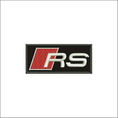[Patch] AUDI RS motor racing auto corse cm 7,5 x 3,5 toppa ricamo v11a -964