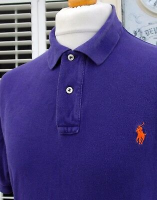 Ralph Lauren Purple Pique Polo Shirt - L/XL/XXL - Ska Mod Scooter Casuals Skins
