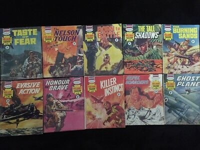 Lot Of 10 Vintage Valiant Picture Library Digest 1966 To 1968 War Comics