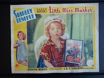 1934 Little Miss Marker - 1936 Re-Release Lobby Card - Shirley Temple - Great