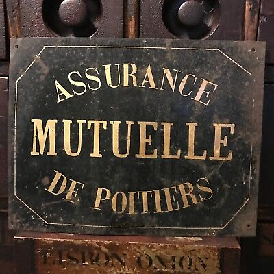 Vintage French Health Insurance Sign