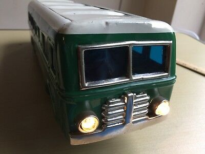 Vintage Japan Tinplate Battery Operated Toy Bus
