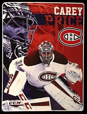 "Carey Price Montreal Canadiens 46"" x 60"" NHL Super Plush Throw Blanket"