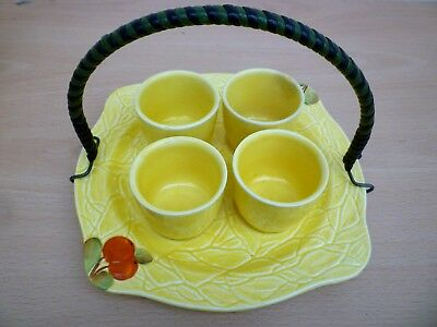 Vintage/retro Circa 1940's/50's Egg Cups And Stand - Retro Kitch