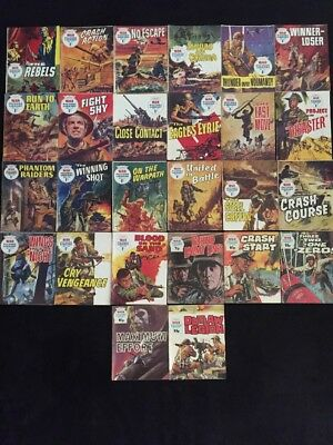 Lot Of 26 Vintage War Picture Library Digest 1966 To 1977 War Comics