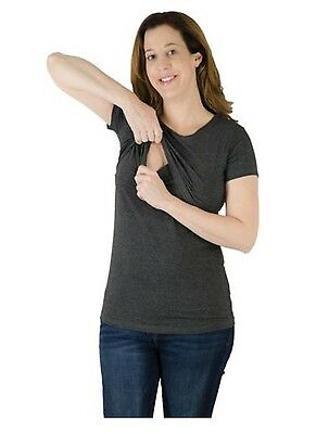 Latched Mama Nursing T-Shirt Gray Top Size S