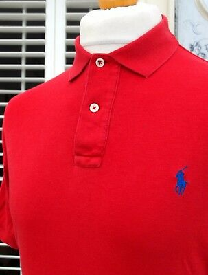 Ralph Lauren Red Short Sleeve Polo T-Shirt - S/M - Ska Mod Scooter Casuals Skins