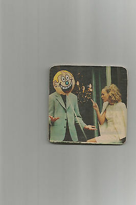 Pretty Blonde Woman In White Dress & Man Behind Balloon Cork Backed Bar Coaster