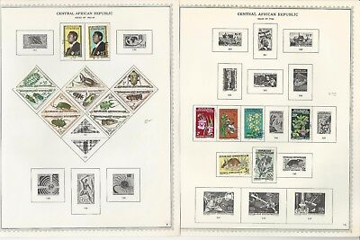 Central Africa Collection 1959-1988 on 50 Minkus Specialty & Global Pages