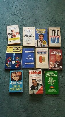 Lot Of 11 Paperback Books - Vintage - Non Fiction - Free Shipping !!!!!!!!!!!!!!