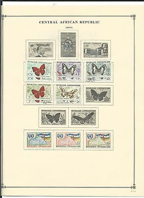 Central Africa Collection 1959-1972 on 12 Scott International Pages