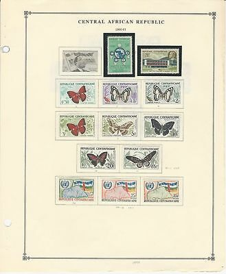Central Africa Collection 1959-1970 on 12 Scott International Pages