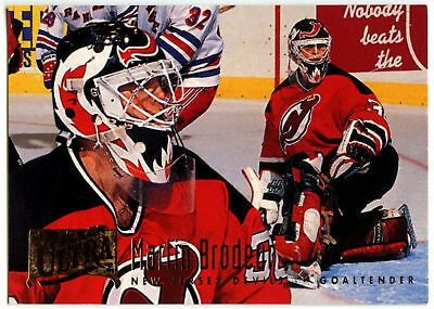 Martin Brodeur #115 New Jersey Devils Fleer Ultra 1994-5 Ice Hockey Card (C537)