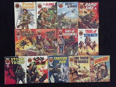 Lot Of 13 Vintage Lion Picture Library Digest 1968 War Comics Fleetway Library