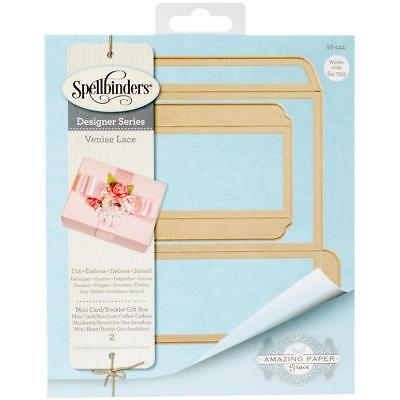 Spellbinders Shapeabilities Dies B.Feeken Venise Lace-Mini Card/Booklet Gift Box