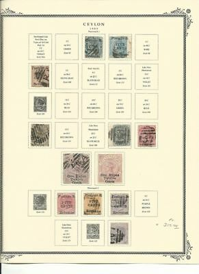 Ceylon Collection 1885-1886 on Scott Specialty Pages, Early Classics