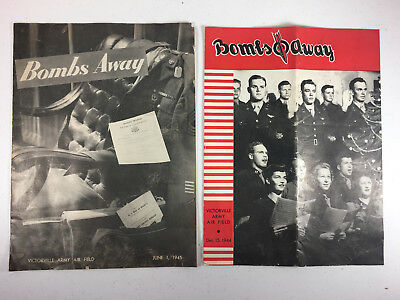 WW2 Bombs Away Magazine Victorville Army Air Field US Army 1944 1945 Lot of 2