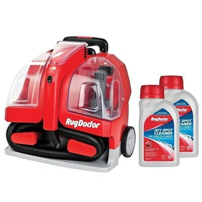 Rug Doctor Portable Spot Carpet Cleaner with 2 x 250ml Spot Cleaning Solution