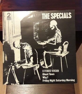 """The Specials. Ghost Town, Rare 12"""" Vinyl Pic Sleeve, 2 Tone Paper Label, Ska"""