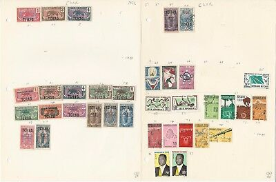 Chad Collection 1922-1972 on 15 Pages, All Different Lot