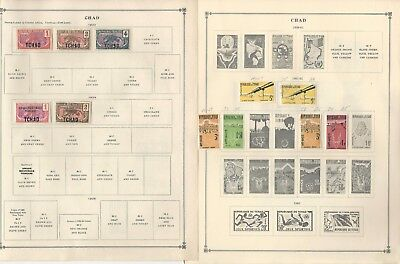 Chad Collection 1922-1992 on 30 Scott International Pages
