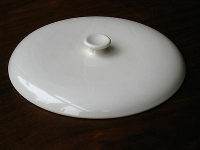 Russel Wright American Modern white covered vegetable bowl LID ONLY Steubenville