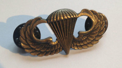 Vietnam Era Subdued US Armed Forces Paratrooper Airborne Jump Wings