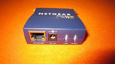 Netgear PS101 Mini Print Server - Ethernet to Parallel