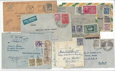 Brazil 1930s - 1940s International Cover Lot, Attractive Group