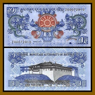 "Bhutan 1 Ngultrum, 2013 P-27 Replacement ""Z"" Unc"