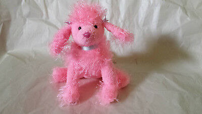 TY Punkies - Flair the Pink Poodle Dog (8 inch) - Stuffed Animal Toy Plush
