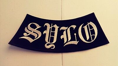 Support Your Local Outlaws MC Rocker Patch, black & White. HARLEY 1%er  SYLO