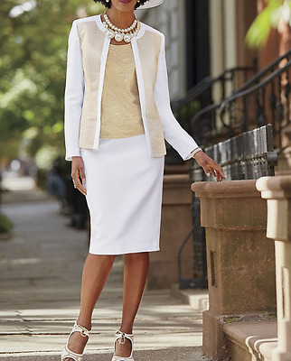 plus sz 24W Cate Skirt Suit by Ashro (tank included) new